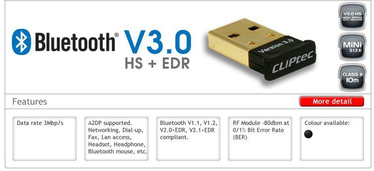 پشتیبانی از بلوتوث 3.0 به همراه EDR و HS