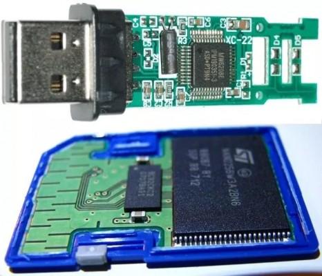 درون یک فلش درایو USB