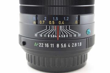 درجهبندی گشادگی دیافراگم روی یک لنز
