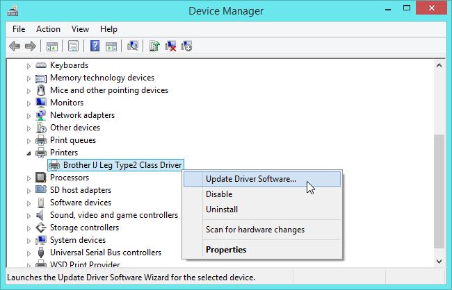 نصب درایورها با بروزرسانی از طریق Device Manager