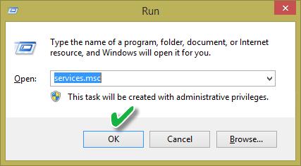 اجرای مدیریت سرویسها در ویندوز با دستور services.msc