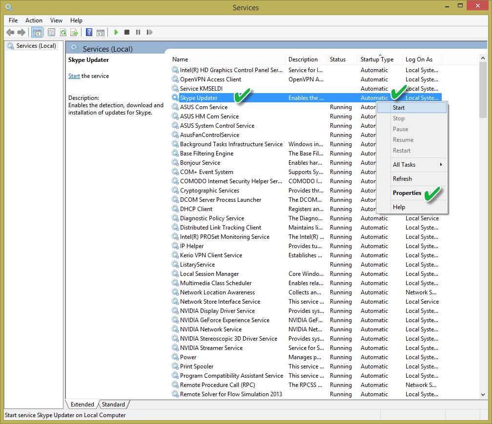 مرتبسازی سرویسها به ترتیب نحوهی شروع در Services ویندوز
