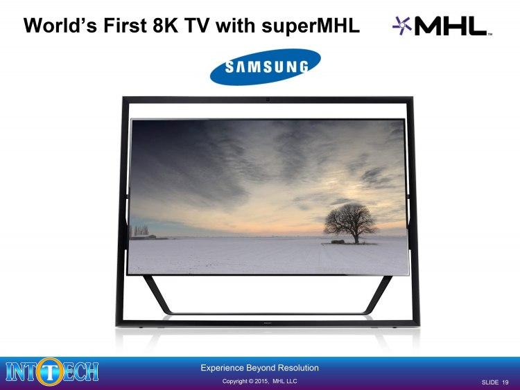 اولین نمایشگر 8K با پشتیبانی از پورت SuperMHL
