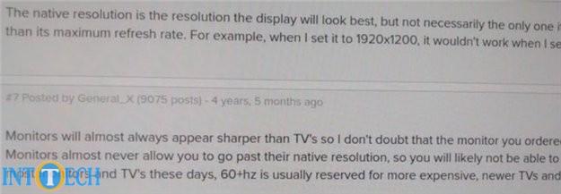کیفیت ظاهری نمایشگری که با HDMI متصل شده است.