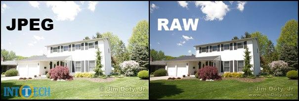 تصویر jpg با تصحیح روشنایی در برابر تصویر خام یا RAW