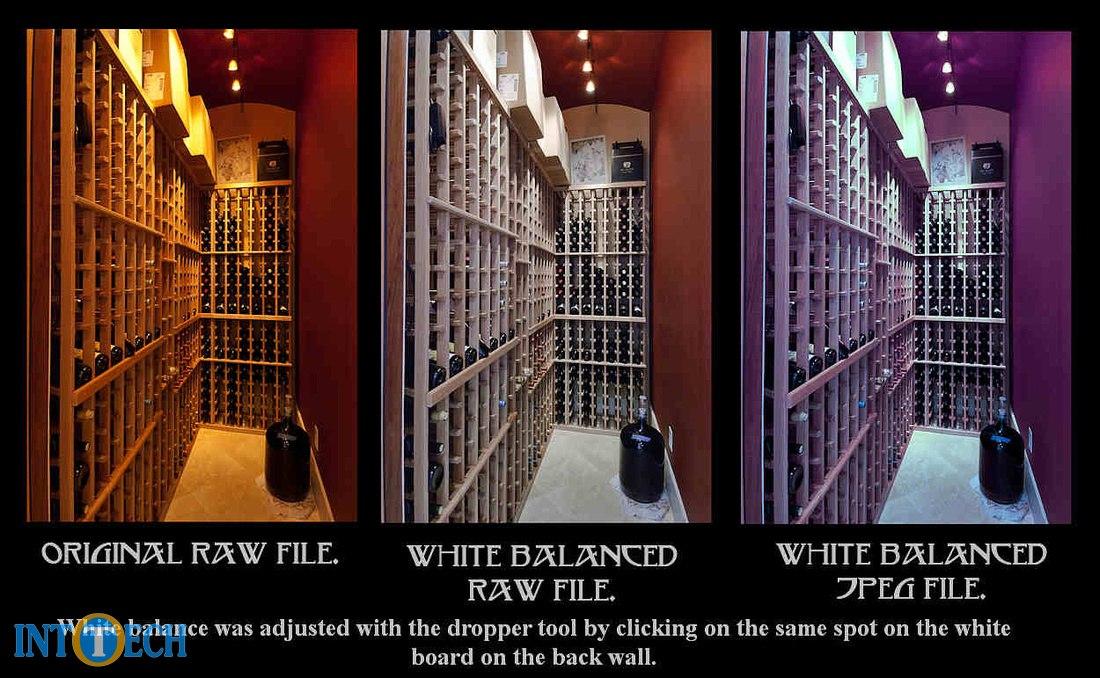 توازن رنگ سفید در jpg معمولاً بهتر است.