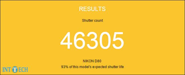 تعداد شاتر یک دوربین خاص و تخمین عمر سپری شدهی آن