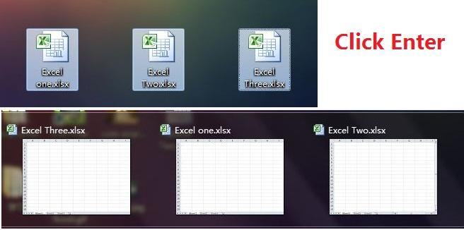 باز کردن همزمان چندین فایل اکسل