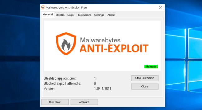 Malwarebytes Anti-Exploit با واسط کاربری ساده
