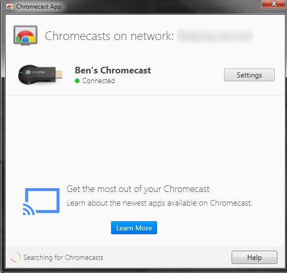 اپلیکیشن کرومکست برای پیسی و لپتاپ