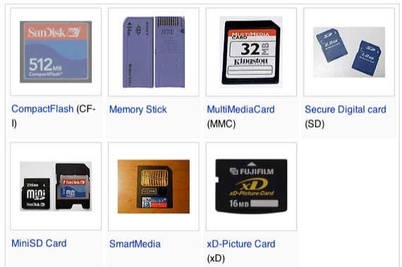 انواع و اقسام کارت حافظه
