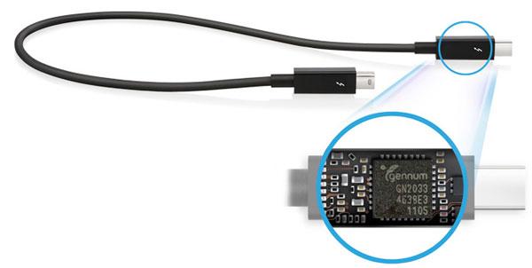 کابل اکتیو تاندربولت با تراشهی داخلی جهت تبدیل پهنای باند